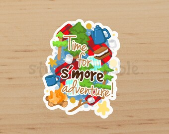 S'more Adventure Die Cut Glossy Sticker / S728