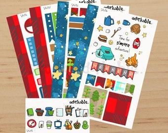 S'more Adventure Mini Planner Sticker Kit / SK690