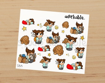 Camping Bits Option D Glossy Stickers / SP695