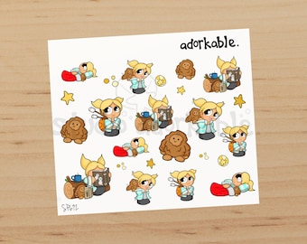 Camping Bits Option A Glossy Stickers / SP692