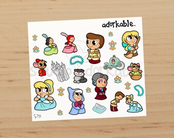 Cinderelly Bits Glossy Stickers / S731