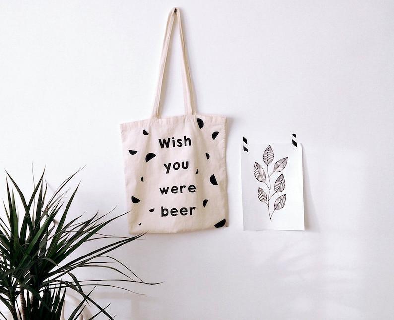 beer print beer lover Beer TOTE BAG funny bag reusable bag valentines gift beer gift personalized bag hand painted beer craft beer
