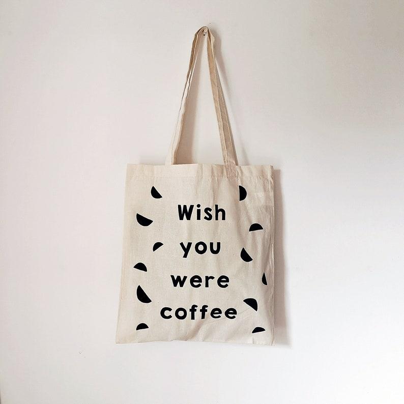 CUSTOM ORDER Wish you were coffee natural LV black