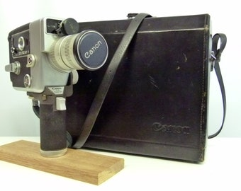 Vintage Canon 512 Auto Zoom Cine Camera With Filters and Leather Case - 1960's - Very Retro