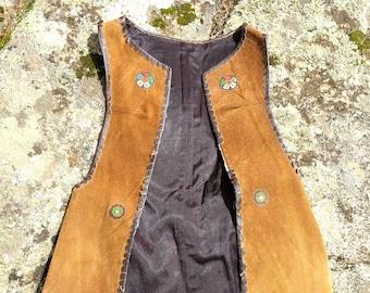 vintage suede vest