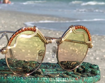 610c4f6a47916 BLiSS Pink Yellow Wire Wrap Spunglasses