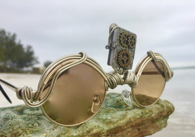 6bf198d337a47 Steampunk Third Eye Wire Wrapped Festival Sunglasses