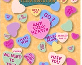 Items Similar To Home Made Custom Anti Valentine S Day Candy Hearts