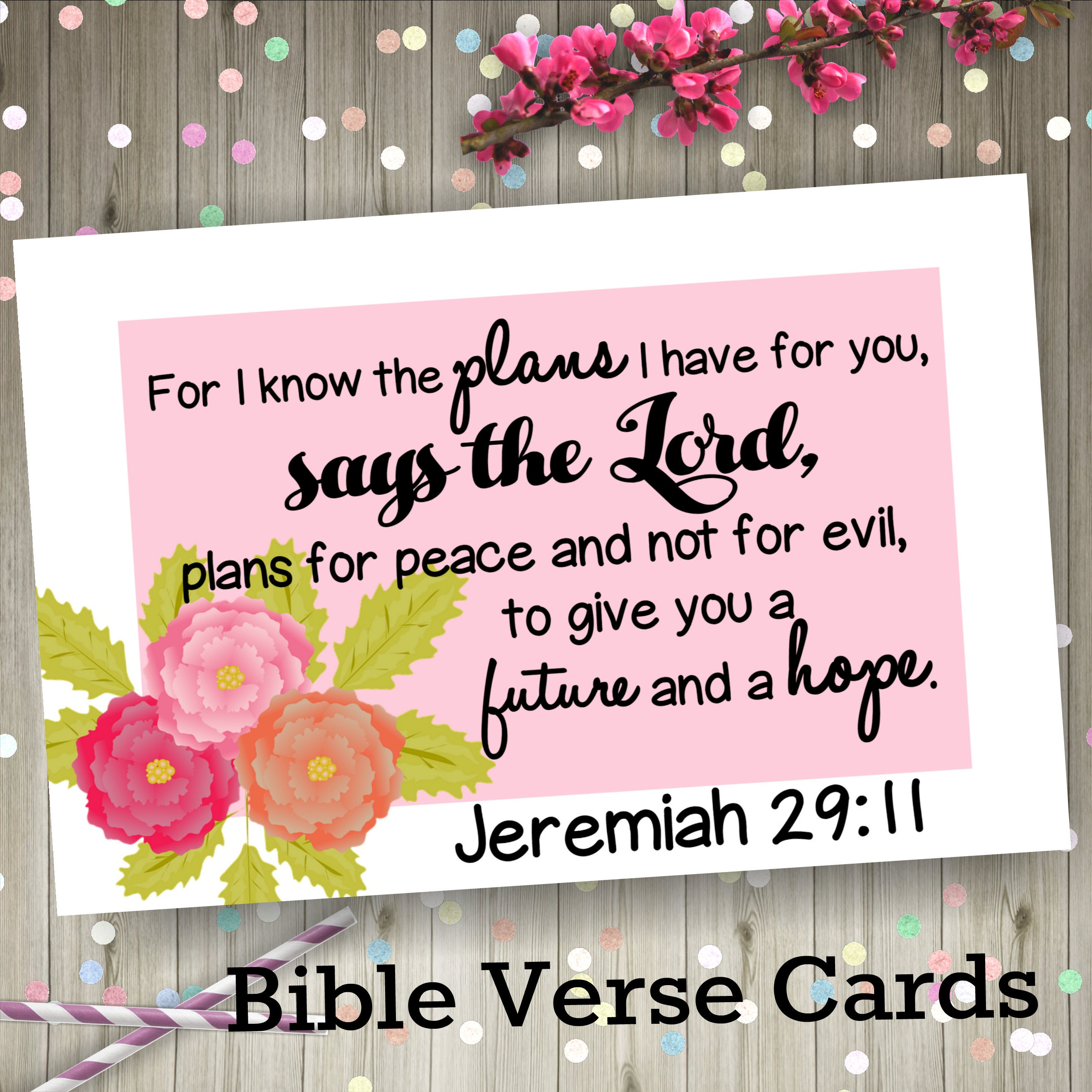 Bible verse cards Christian Motivation Christian Gifts | Etsy