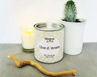 Lemon and Verbena Candle Home Deco Soy Candle French Candle French Fragrance French Perfume