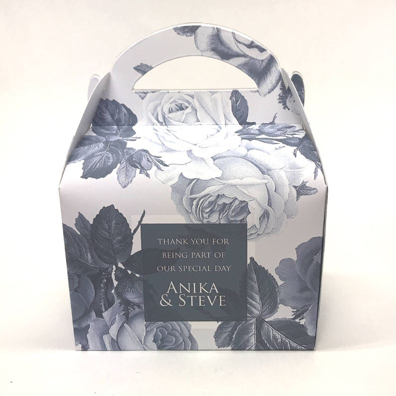 Personalised Vintage Rose Floral Wedding Favour Boxes Hen Party Bridal Shower Gift Box