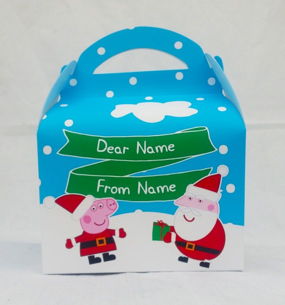 Peppa Pig Christmas.Peppa Pig Christmas Childrens Gift Box Party Favour