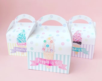 Ice cream and summer daydreams Personalised Children's Party Boxes