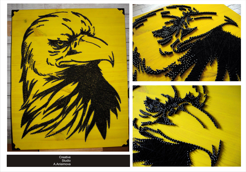 Eagle String Art American Eagle Bird Decor Rustic Home | Etsy