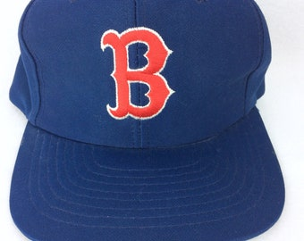 0c0ed3bd18b VTG Boston Red Sox MBL baseball hat snapback adjustable plastic snap M L