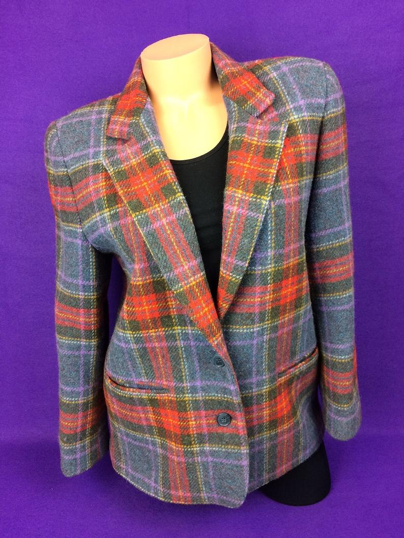 d471850aff88 VTG 80s wool plaid tweed sport coat blazer hunting fishing   Etsy