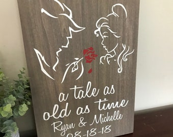 Beauty And The Beast Wedding Etsy