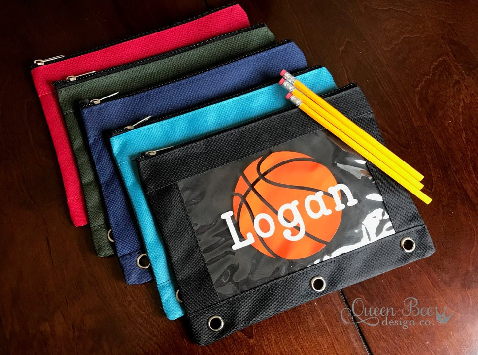 Basketball Personalized Pencil Pouchpencil Case Boysback To School