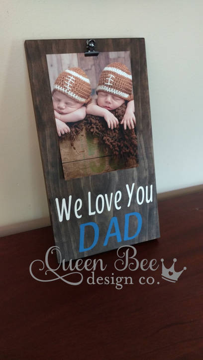 Fathers Day Giftwe Love You Dad Picture Framei Love You Dad