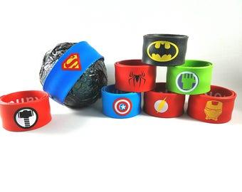 Superhero bath bomb, surprise bath bomb, bath bomb with slap bracelet, bath bomb for boys, bath bomb for kids, bath bomb with toy