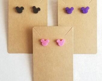 Mouse ears earrings, mouse earrings, cartoon character earrings, stud earrings, mouse character earrings, kids earrings, cartoom earrings