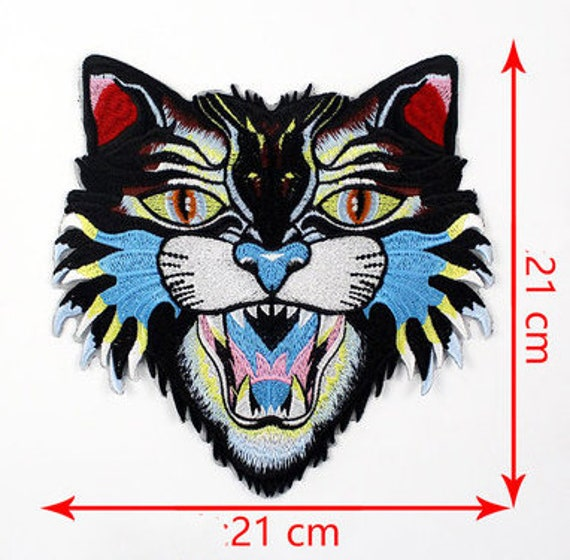 Iron on Laculo Tiger Patch Back Patch Large Tiger Head Patch Animal Patches Embroidered Patch Iron on or Sew on Patch Lion Patch