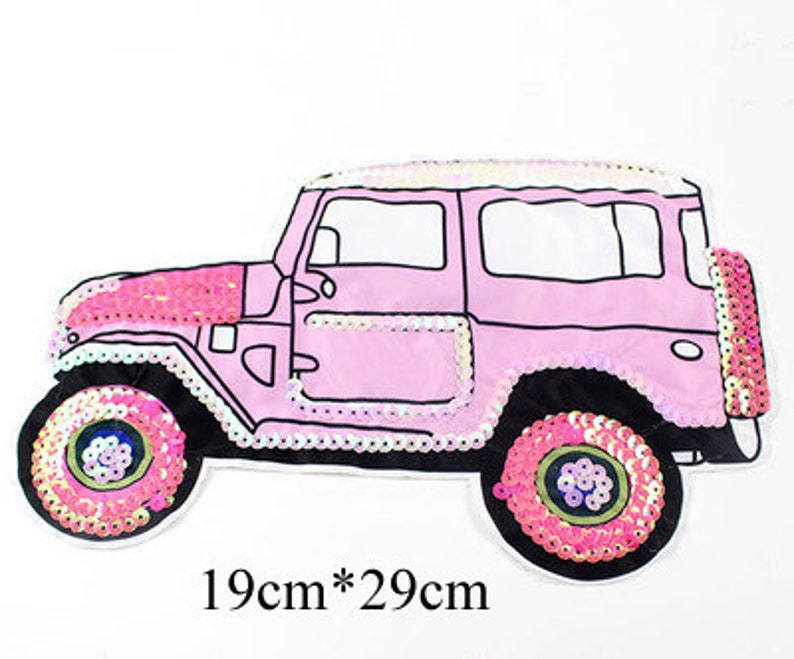 252b10b9f8fe4 BUY 3 GET 1 FREE Jeep Sequined Applique Patch Paillette Patch Sequins Car  Patch Supplies for Coat patches for jackets P1621