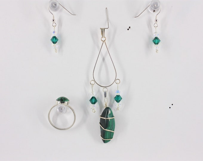 Malachite - Ring, Pendant or Set
