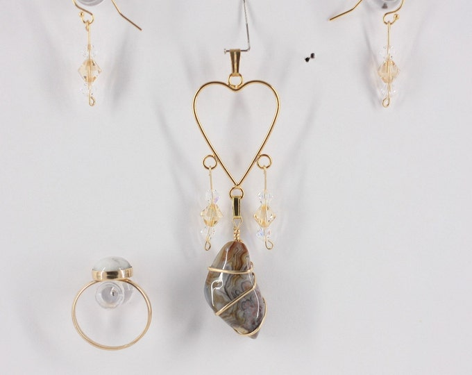 Crazy Lace - Ring, Pendant or Set