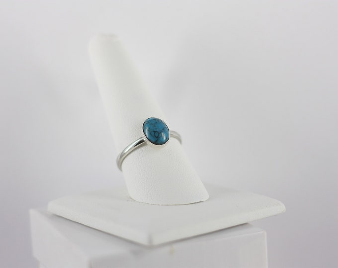 Ladies Rings - Oval 8x10 mm Turquoise