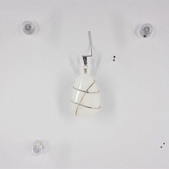 White Quartz Pendant (SS)