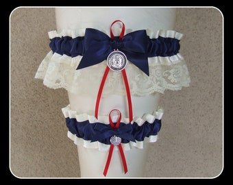 #WOMENS MARINE LADY IN THE NAVY GARTER MILITARY NAUTICAL FANCY DRESS ACCESSORY