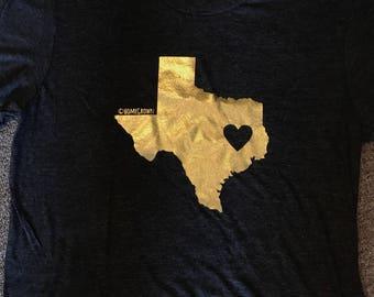 Gold heart Texas