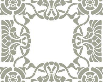 Pochoir mural en Mylar Motif tr/èfle /à 4 feuilles A3 Stencil Medium