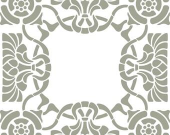 Stencil art deco tile
