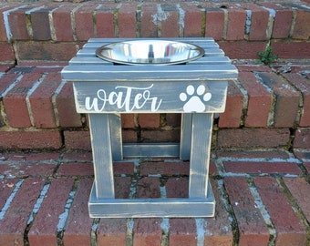 """READY TO SHIP 12"""" tall elevated water bowl"""