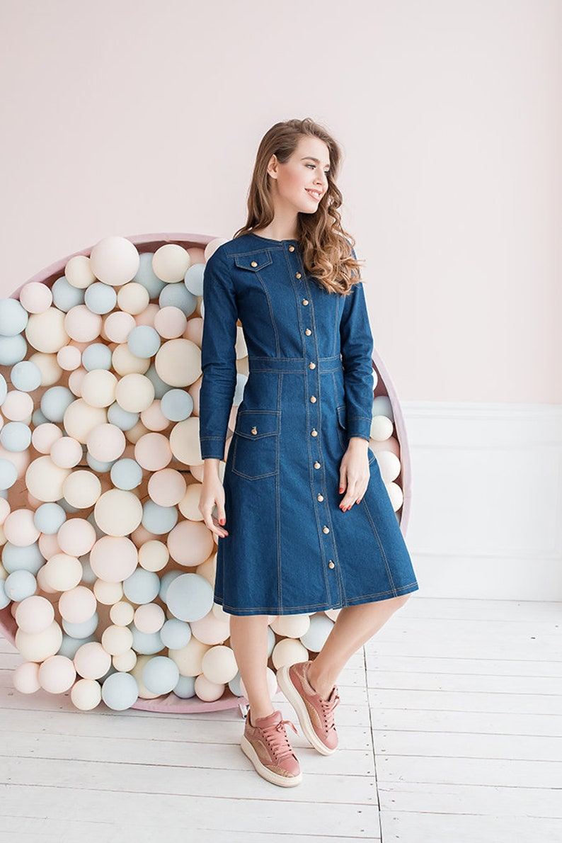 bc56964636 Denim dress demiseason dress autumr spring dress sport