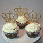 Rose Gold Crown Cupcake Toppers