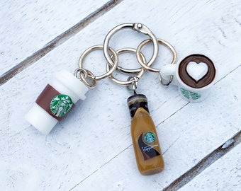 Set of 3 • Coffee Stitch Markers • Large Stitch Markers • Free Shipping • Great gift for knitters and crocheters!
