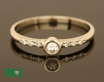 Engagement Rings,Wedding Bands, Diamond ring,14K Solid Gold Diamond Ring,Bridal Rings,Wedding Rings,14k gold diamond bands,Tiny Diamond ring
