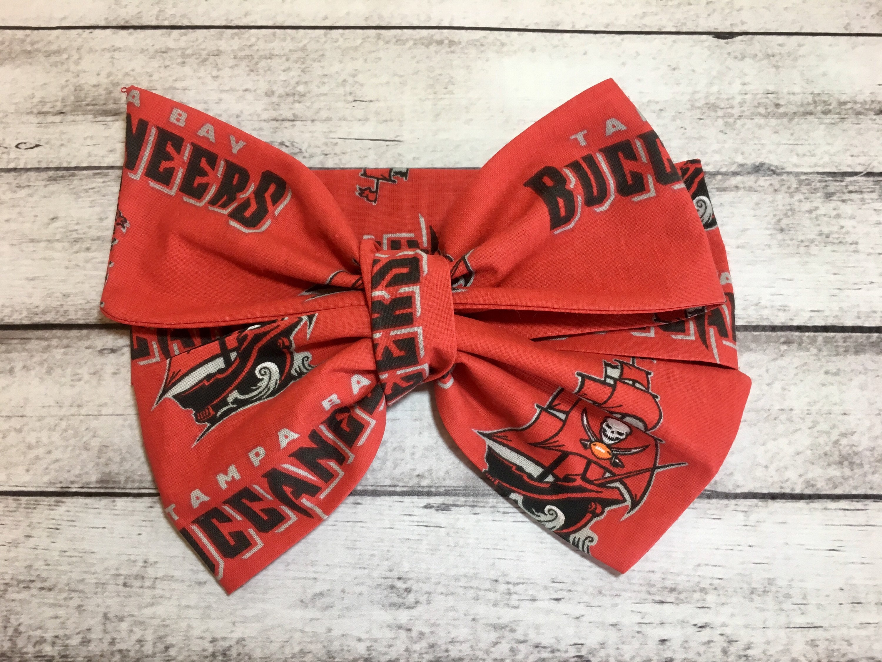 d2c38a440 Tampa Bay Buccaneers Inspired Glam Football Headwrap Team Hair