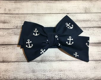 TIED, Anchor Headwrap,Nautical Headwrap,Baby Headband,Toddler Headwrap, Big Bow Headwrap,Bows, Headwrap, Infant Headwrap, Baby Girl Headwrap