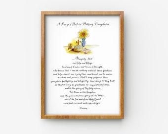 Prosphora Prayer Print, Prayers before baking Prosphora, Orthodox Christian prayer