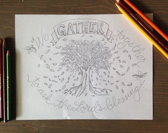 PRINTABLE: Thanksgiving Day Coloring Page