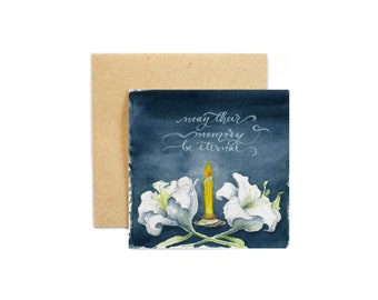 Memory Eternal Card Pack of 3, May their memory be eternal, grief and loss, sympathy card, Orthodox Christian
