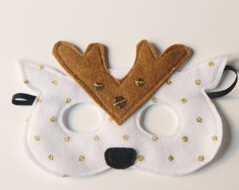 Spotted fawn felt mask