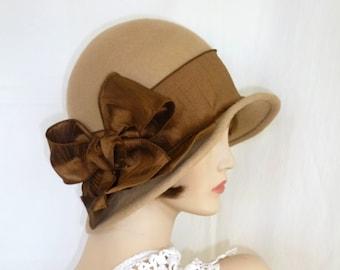 9dcb8a97e743f Custom 1920 s flapper Cloche - Downton Abbey hat