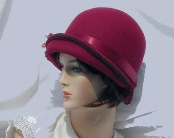 c53e4191e2a4c Custom Convertible 3 in 1 asymmetrical cloche - Downton Abbey hat