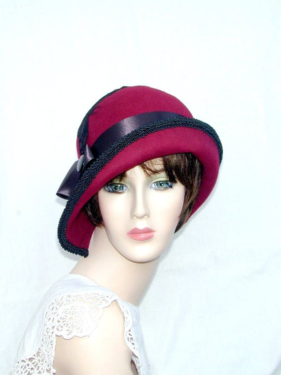 a15308b1c9af8 Miss Fisher Custom Convertible 6 in 1 cloche Downton Abbey
