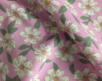 4 Metres Yellow /& Grey Forest Floral Printed 100/% Cotton Poplin Fabric.